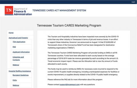 Tennessee Tourism CARES Marketing Program