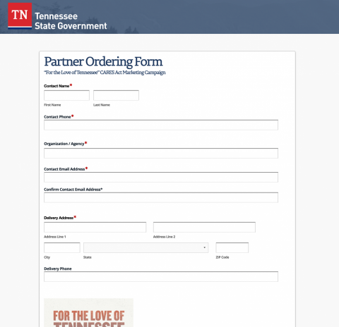 CARES Act Campaign Partner Ordering Form