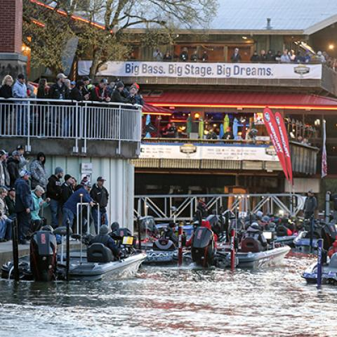 World Championship of Bass Fishing anglers in Knoxville