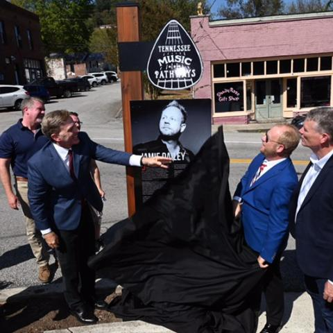 Jamie Dailey Tennessee Music Pathways marker unveiled in Gainesboro, Tennessee