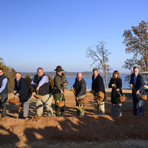 Groundbreaking ceremony at The Lodge at Paris Landing State Park