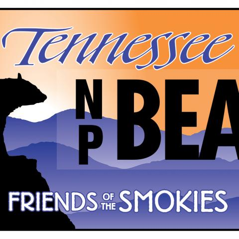 The Tennessee Smokies license plate with black bear